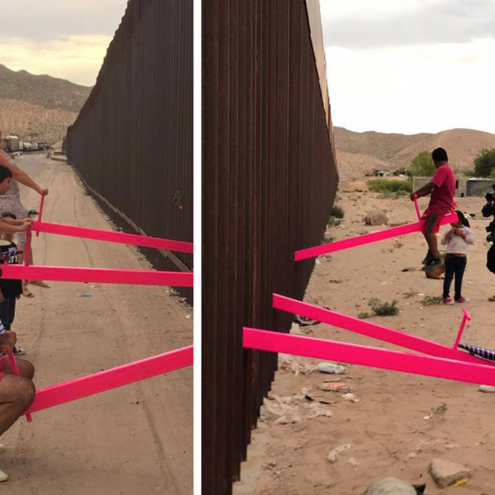 Design Award Goes to Pink Seesaws at US-Mexico Wall