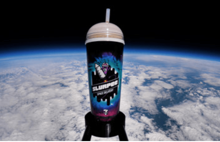 Up, Up and Away! 7-Eleven Successfully Delivers Slurpee Drink to Space