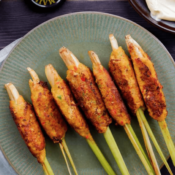Our Sunday Recipe: Fish Satay with Sambal and Maille Hollandaise